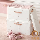 衣物收納箱布藝衣柜收納盒家用折疊牛津布置物箱【宅貓醬】