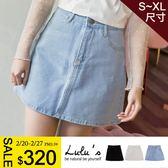 LULUS特價-Q基本款斜紋牛仔短裙S-XL-3色  現+預【05011326】