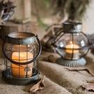 鐵藝燭臺風燈小提燈裝飾擺件花器花園雜貨ZAKKA美式 卡卡西