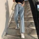 高腰闊腿牛仔褲女春季新款顯瘦九分泫雅小個子寬鬆垂感直筒褲 伊衫風尚