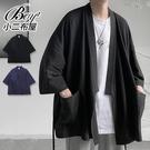 男外套 素面日式罩衫綁帶男開襟外套【NLTNT-S18】