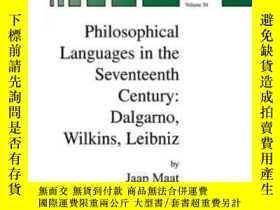 二手書博民逛書店Philosophical罕見Languages In The Seventeenth CenturyY464