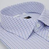 【金‧安德森】紫藍格紋窄版短袖襯衫