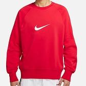 Nike NSW Swoosh Crew 男 紅 圓領 刷毛 長袖上衣 DA0087-657