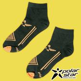 PolarStar 中性排汗短筒襪 露營.戶外.登山.排汗襪..彈性襪.紳士襪.休閒襪.長襪.短襪- P17521 黑
