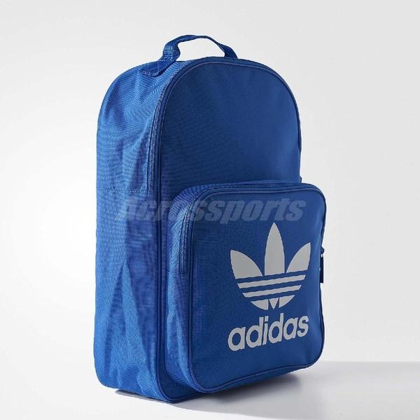adidas 後背包 Originals Trefoil Backpack 男女款 基本款 藍 白 雙肩背 書包 三葉草 【ACS】 BK6722