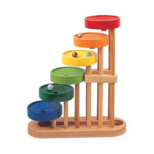 【World Zebra】原木趣味彈珠塔 Funny Wooden Marble Tower 06-6053