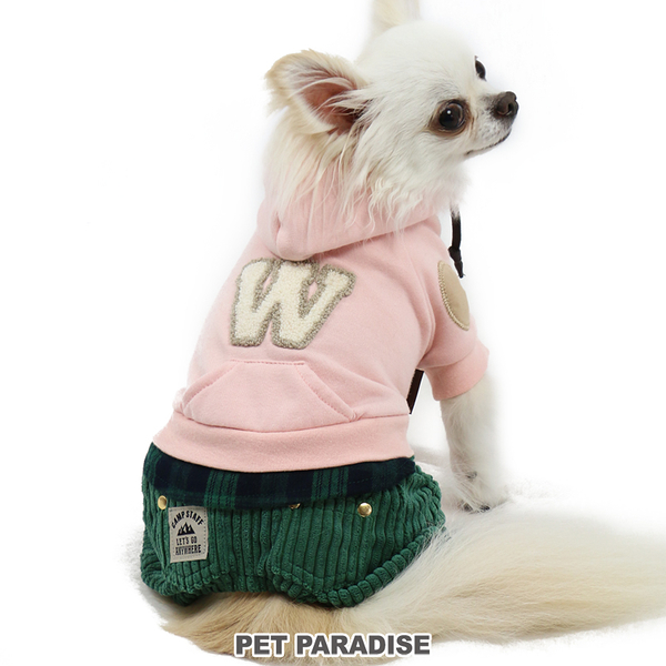 【PET PARADISE 寵物精品】 PP W貼布假2件連身褲/粉 (DSS/SS/DS) 寵物衣服