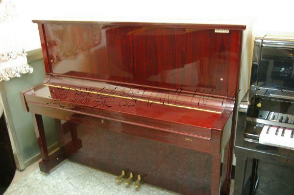 【HLIN漢麟樂器】-日本原裝kawai河合123號直立式中古二手鋼琴-原木-亮黑-豪華47