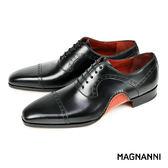 【MAGNANNI】翼紋雕花牛津紳士皮鞋 黑色(15488-BL)