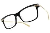 GUCCI光學眼鏡 GG0524O 005 (黑-金) 古馳配色眼線款 古馳 正品 日本製 # 金橘眼鏡