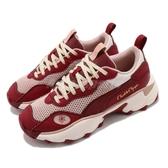 Puma 休閒鞋 Pulsar Charlotte 紅 粉紅 女鞋 聯名款 厚底 增高 麂皮設計 復古 【ACS】 37433901