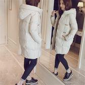 棉服 羽絨棉衣女中長款冬季新款原宿連帽加厚學生棉襖面包服外套      非凡小鋪