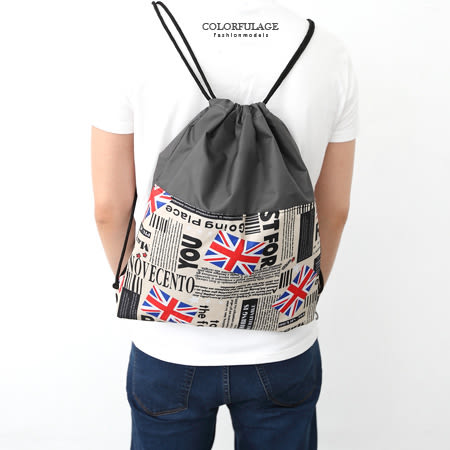 休閒束口袋 經典國旗圖騰尼龍潮流後背包.肩背包.手提包 柒彩年代【NZ441】型男人氣配件