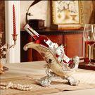 歐式紅酒架家居飾品客廳擺件奢華裝飾品樹脂創意工藝品酒櫃擺設