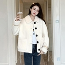 短外套女秋冬小香風2020新款百搭羊羔毛加厚冬裝韓版寬鬆休閒上衣 雙十一全館免運