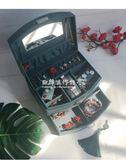 首飾收納盒  復古首飾盒墨綠帶鎖手飾盒珠寶盒歐式飾品盒收納盒帶鏡 『歐韓流行館』