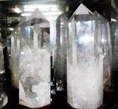 白水晶簇擺件