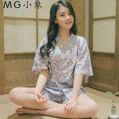 睡衣 純棉短袖甜美可愛夏天和服睡衣