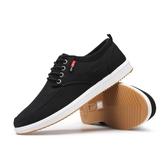春季新款布鞋工作鞋子男韓版潮流運動休閒板鞋男透氣帆布鞋