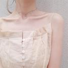 項鍊韓國氣質簡約S925銀頸鍊防過敏星星月亮項鍊美少女戰士鎖骨鍊 俏女孩