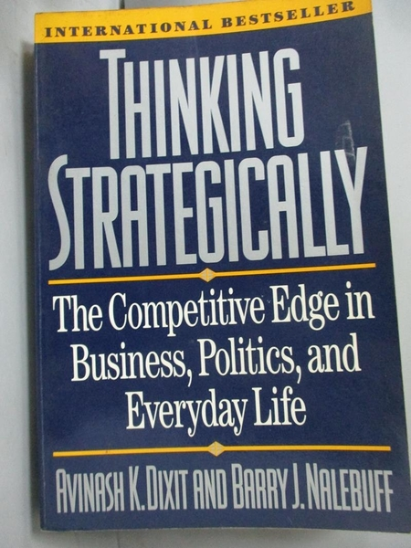【書寶二手書T7/財經企管_HTA】Thinking Strategically_Dixit- Avina