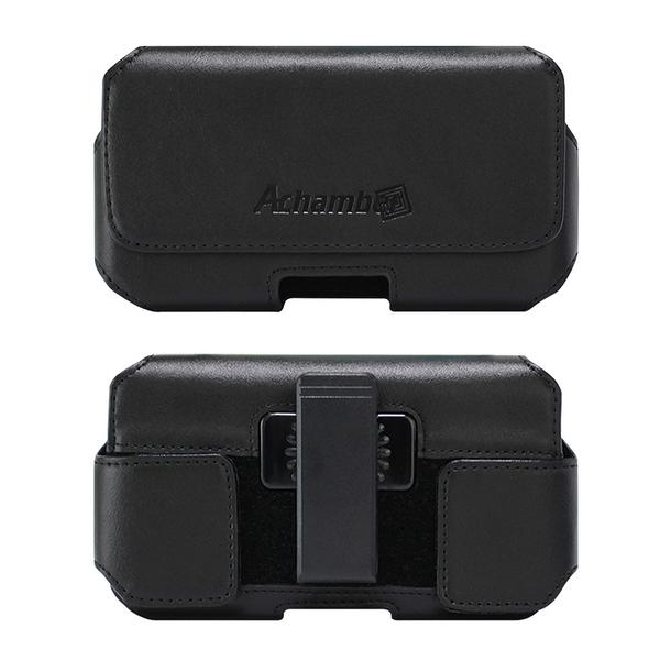 第二代Achamber for ZenFone MAX Pro ZB602KL 真皮旋轉腰掛橫式皮套