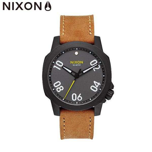 NIXON 手錶 原廠總代理A471-2093 The Ranger 40 Leather 潮流時尚皮錶帶 男女 運動 生日情人節禮物