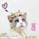 鹿角貓咪狗狗貓頭飾布偶生日帽子寵物拍照可愛變裝貓咪頭套【小獅子】