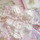 內衣套裝-特價日繫軟妹蘿莉可愛貓咪貓爪牛奶絲無鋼圈三角杯文胸套裝內衣 夏沫之戀