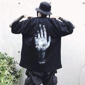 韓版男短袖t恤原宿bf風潮流ins超火的寬松個性中袖學生七分袖上衣