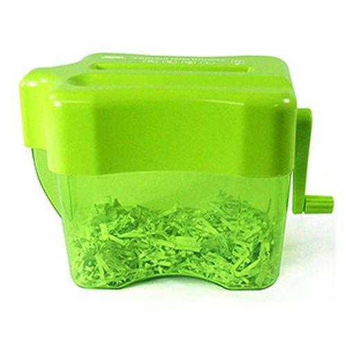 《享亮商城》Q04802 全碎型手動碎紙機(嫩果綠) ABEL