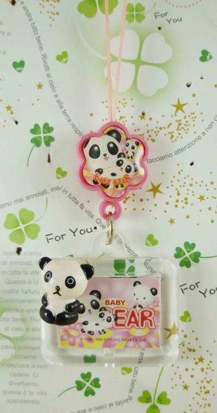 【震撼精品百貨】San-X動物家族 熊貓~手機吊飾-熊貓(相框)