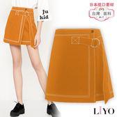 裙子-LIYO理優-MIT歐美時尚休閒鬆緊彈力A字短裙E833001