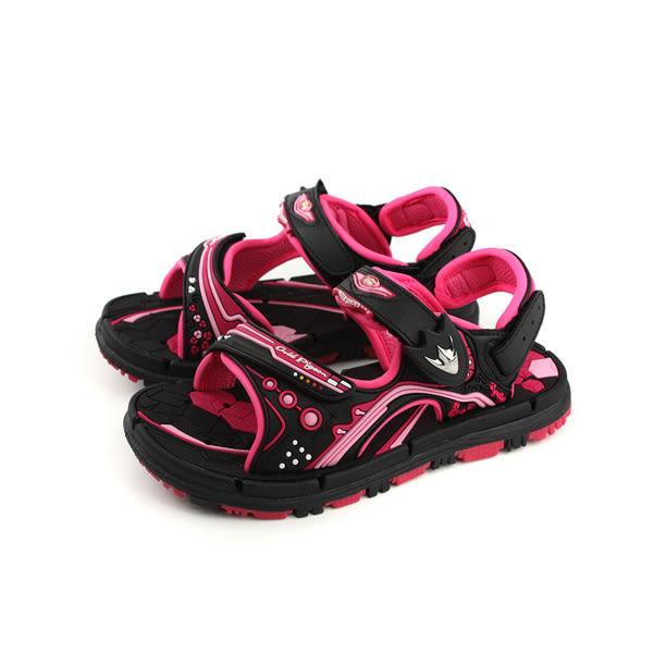 GP(Gold.Pigon) 涼鞋 防水 雨天 桃紅/黑 大童 童鞋 G8671B-15 no933