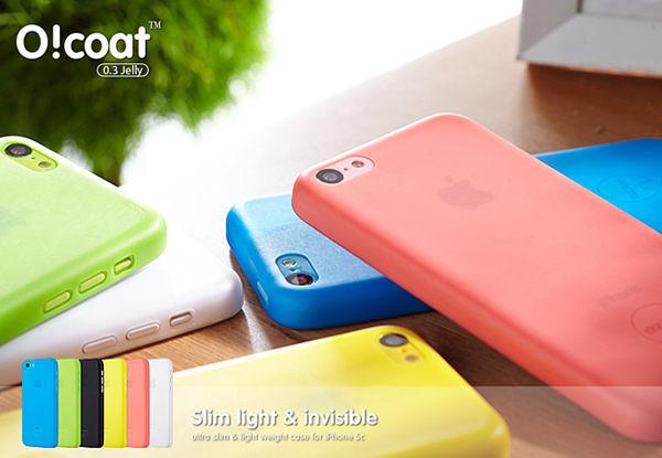[NOVA成功3C]Ozaki O!coat 0.3 Jelly iPhone 5C 超薄透色保護殼  喔!看呢來