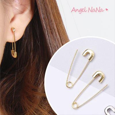 耳環-吳亦帆同款潮流嘻哈別針耳針 情侶耳環 (SRA0116) AngelNaNa