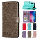 三星 Note10 Note10+ 蕾絲花點鑽皮套 手機皮套 插卡 支架 掀蓋殼 保護套