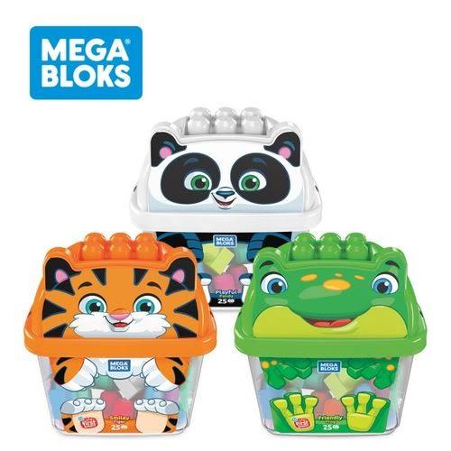 MEGA BLOKS 費雪 美高 動物造型大大積木桶(老虎/青蛙熊貓)[衛立兒生活館]