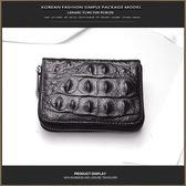 春季上新 PUSUZE鱷魚紋牛皮男式卡包多卡位女式牛皮信用卡片包女士風琴卡套