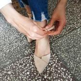 高跟鞋女春季新款女粗跟百搭韓版一字扣帶尖頭32小碼33單鞋夏 伊莎公主