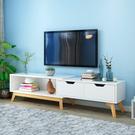 電視櫃現代簡約茶幾電視櫃組合客廳家具套裝歐式電視機櫃xw【快速出貨】