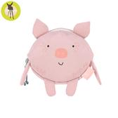 【新品上市送收納盒】德國Lassig-幼童迷你動物造型隨身包-迷你豬