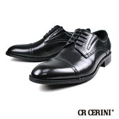 【CR CERINI】時尚真皮雕花橫飾德比紳士鞋  黑色(83471-BL)