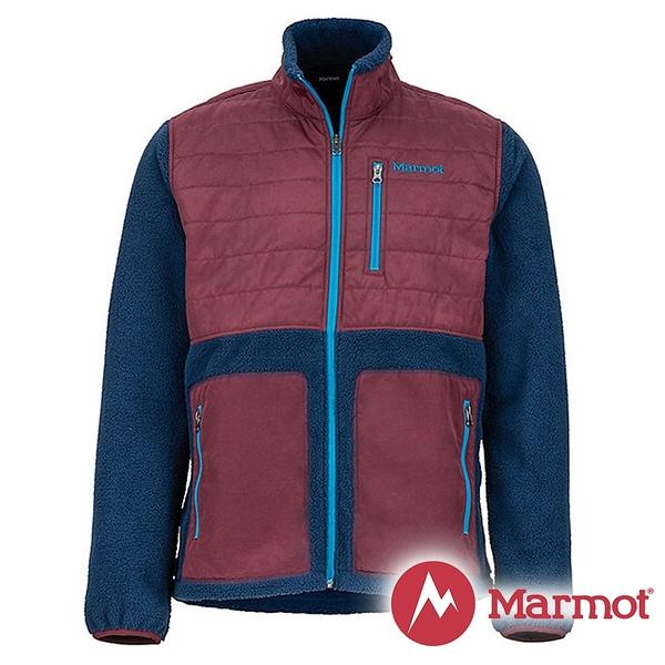 【Marmot】男 Mesa 纖維保暖外套『海軍藍/酒紅』43950 戶外 休閒 登山 露營 保暖 禦寒 防風 夾克