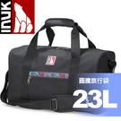 【INUK 加拿大 23L圖騰旅行袋可斜背《午夜黑》】IKB12812109030/旅行袋/行李袋