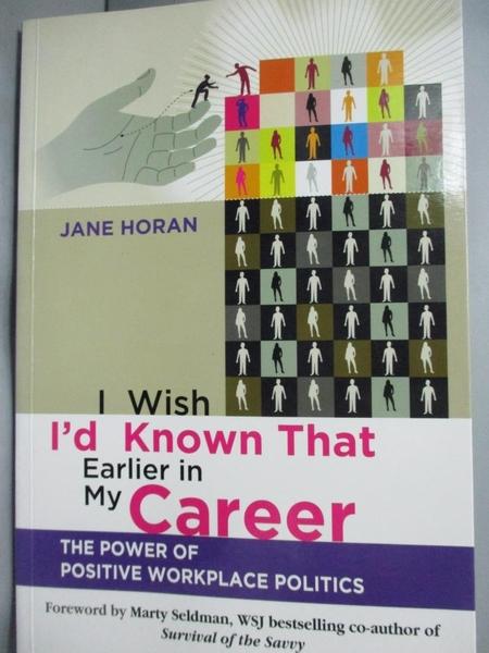 【書寶二手書T2/傳記_QIT】I Wish I d Known That Earlier …_Horan, Jane