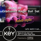 聰明球 情趣用品 美國KEY-Stella III 斯蒂娜(三球)凱格爾運動球+後庭拉珠『歡慶雙J』
