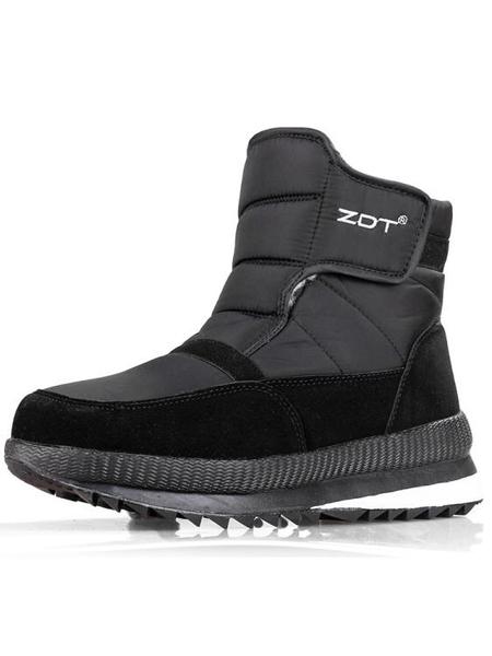 男雪靴 加厚保暖棉鞋女防水防滑冬爸爸加絨休閒鞋