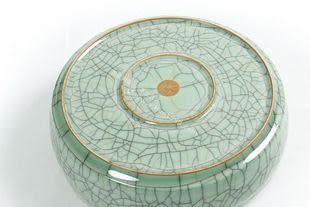 陶瓷器精品/金絲鐵線哥窯開片茶洗筆洗